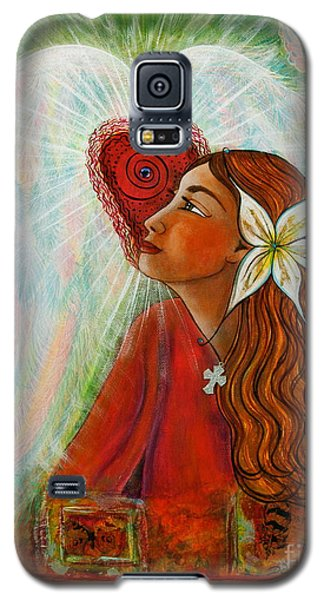 Galaxy S5 Case featuring the painting Blessed Visit  by Deborha Kerr