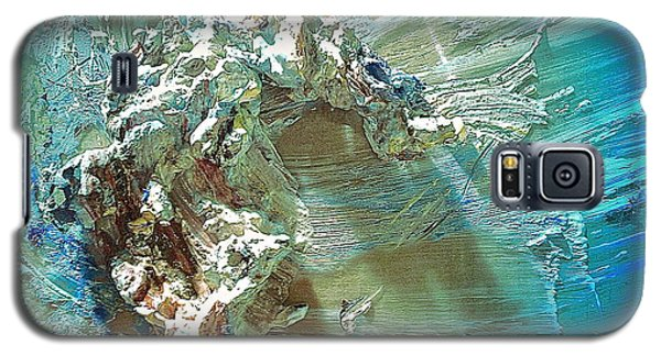 Galaxy S5 Case featuring the digital art Bleu Comme Le Danube by Delona Seserman