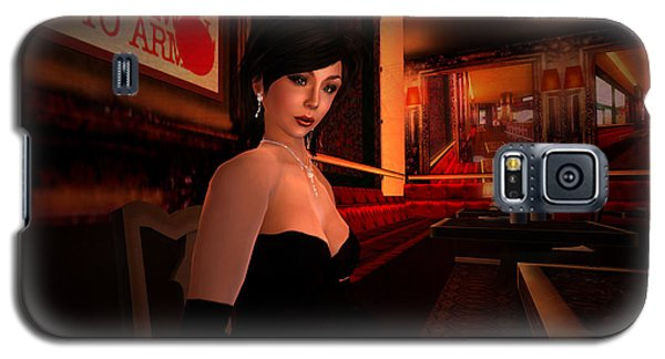 Galaxy S5 Case featuring the digital art Blind Date In A Paris Restaurant 1920s by Kylie Sabra
