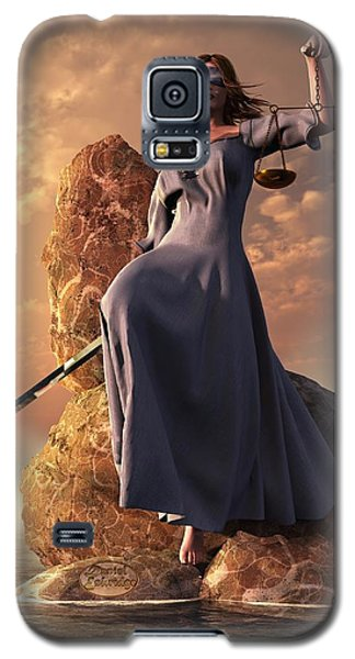 Blind Justice With Scales And Sword Galaxy S5 Case