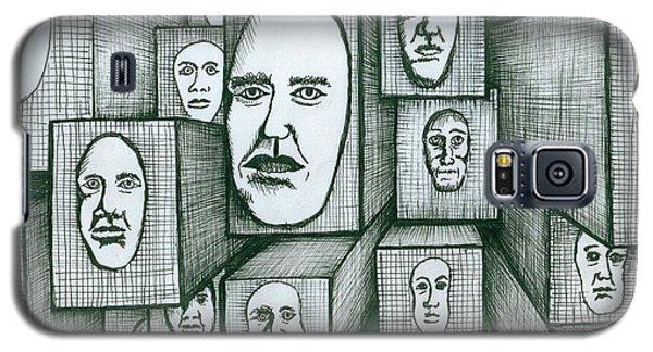 Block Head Galaxy S5 Case by Richie Montgomery