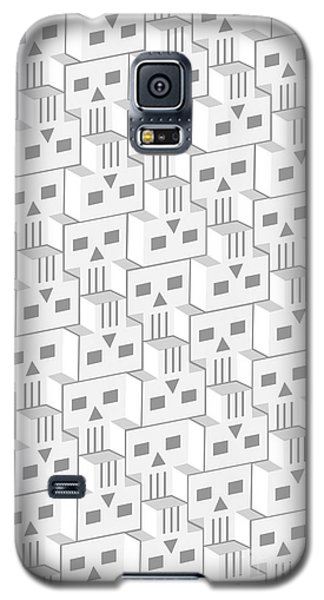 Blockheads - Light Galaxy S5 Case by Gregory Dyer