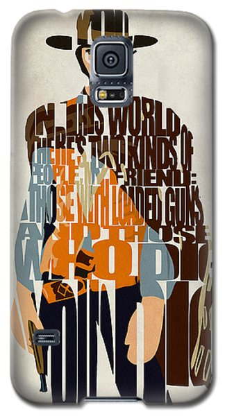 Blondie Poster From The Good The Bad And The Ugly Galaxy S5 Case by Ayse Deniz