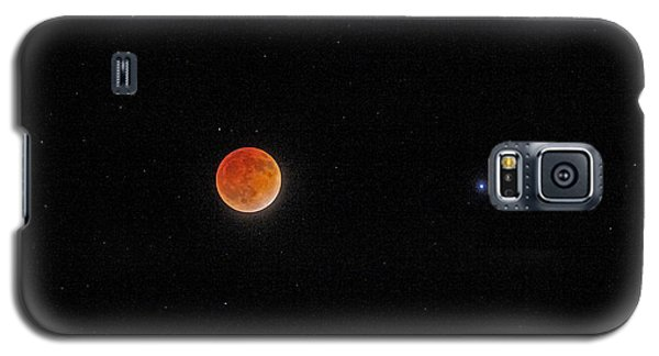Galaxy S5 Case featuring the photograph Blood Moon And Stars by Martin Konopacki