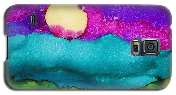Galaxy S5 Case featuring the painting Blood Moon by Angela Treat Lyon