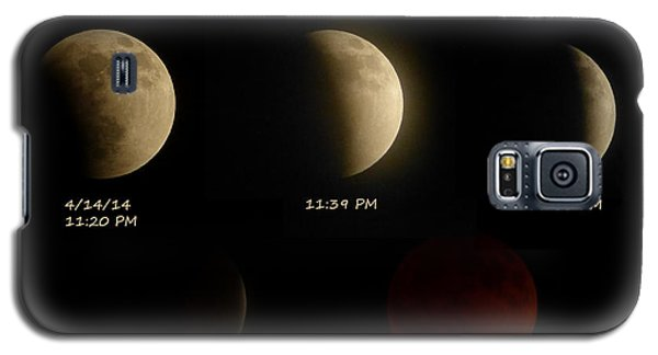 Galaxy S5 Case featuring the photograph Blood Moon Eclipse Of 4/15/2014 by Cindy Wright