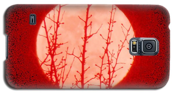 Galaxy S5 Case featuring the photograph Blood Moon Sign In The Heavens by Anastasia Savage Ealy