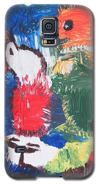 Galaxy S5 Case featuring the painting Blood On Fire by Mudiama Kammoh