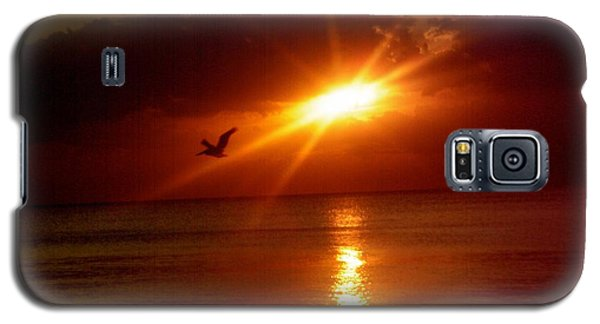 Galaxy S5 Case featuring the photograph Blood Red Sunset by Carla Carson