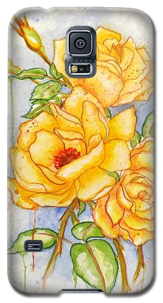 Galaxy S5 Case featuring the painting Blood Sweat And Tears by Darren Robinson