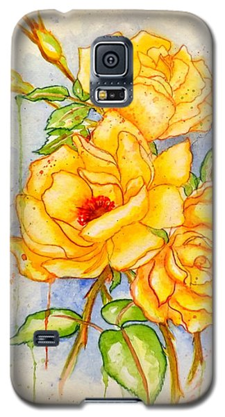 Galaxy S5 Case featuring the painting Blood Sweat And Tears Vignette by Darren Robinson
