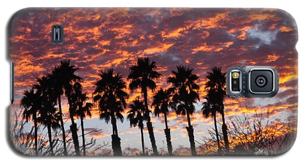 Bloody Sunset Over The Desert Galaxy S5 Case by Jay Milo