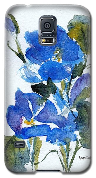 Galaxy S5 Case featuring the painting Blooming Blue by Anne Duke