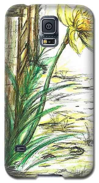 Blooming Daffodil Galaxy S5 Case by Teresa White