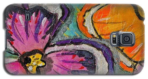 Galaxy S5 Case featuring the painting Blooming Flowers by Joan Reese