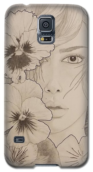 Blooming Girl Pansy Refined Galaxy S5 Case