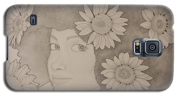 Blooming Girl Sunflower 2 Galaxy S5 Case