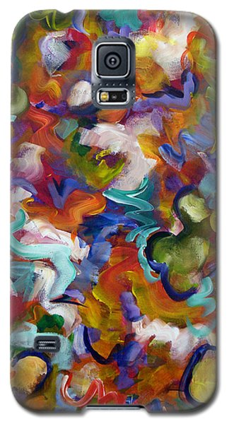 Galaxy S5 Case featuring the painting Blooming Joy by Lynda Lehmann
