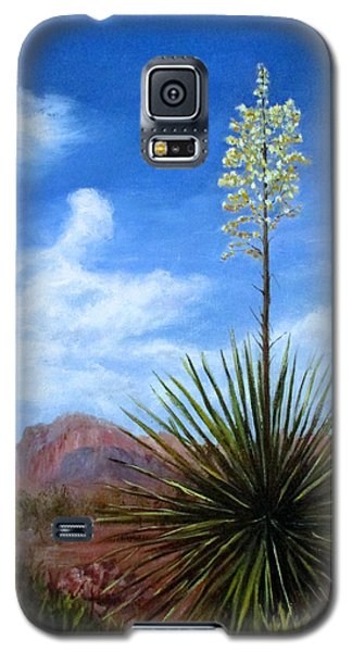 Blooming Yucca Galaxy S5 Case by Roseann Gilmore