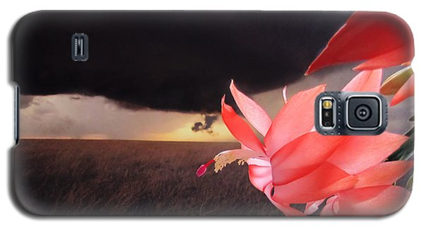Galaxy S5 Case featuring the photograph Blooms Against Tornado by Katie Wing Vigil