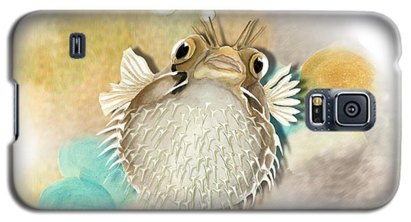 Galaxy S5 Case featuring the painting Blowfish by Anne Beverley-Stamps