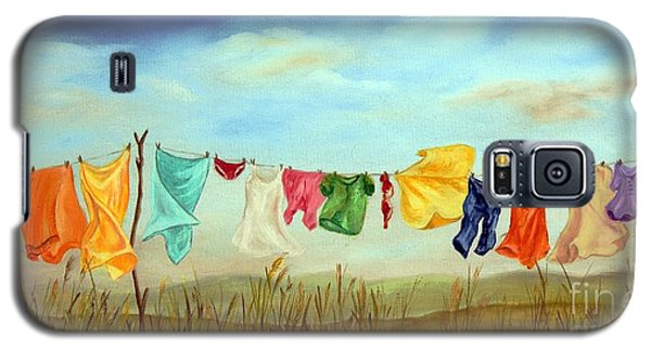 Blowing In The Breeze Galaxy S5 Case by Anna-maria Dickinson