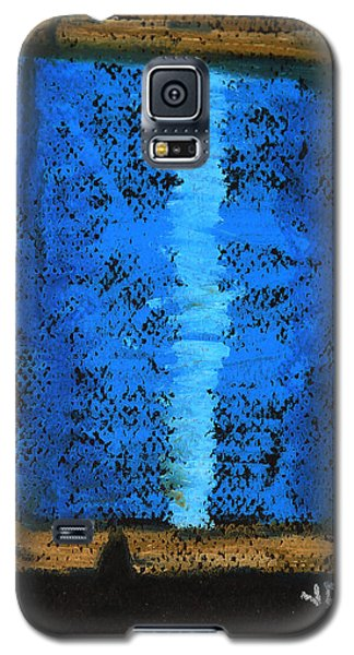 Galaxy S5 Case featuring the drawing Blue 2 by Joseph Hawkins