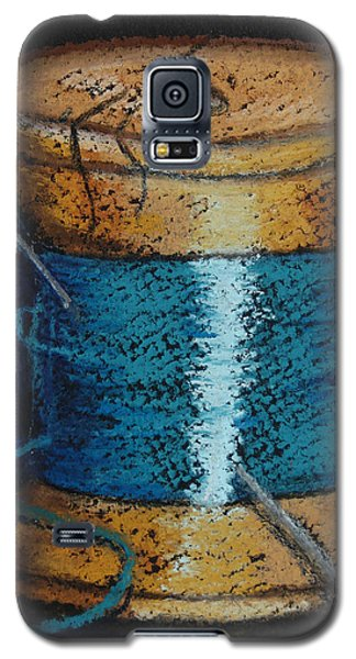 Galaxy S5 Case featuring the drawing Blue 6 by Joseph Hawkins