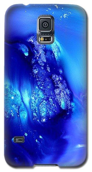 Blue Abstract Art Dancing Crystals By Kredart Galaxy S5 Case