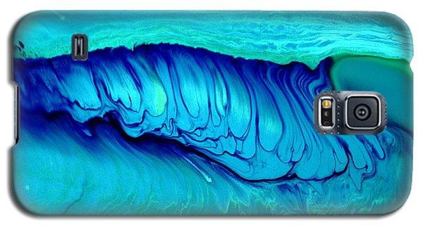 Blue Abstract Art Underwater Secrets Galaxy S5 Case