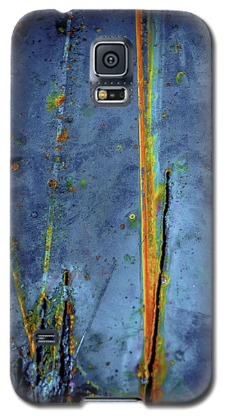 Blue Abstract Seven Galaxy S5 Case