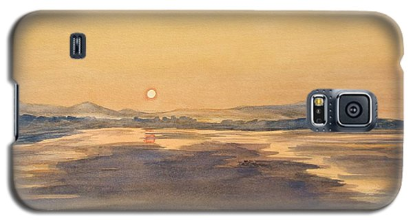 Galaxy S5 Case featuring the painting Blue Anchor Sunset by Martin Howard