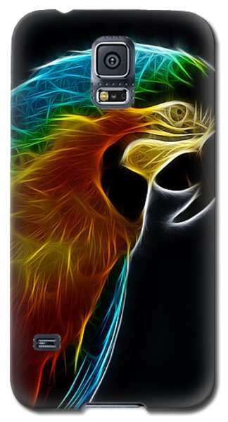 Blue And Gold Macaw Frac Galaxy S5 Case