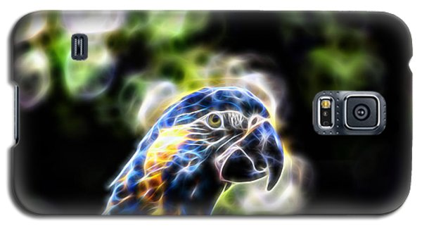 Blue And Gold Macaw V4 Galaxy S5 Case by Douglas Barnard