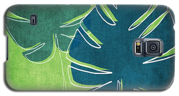 Blue And Green Palm Leaves Galaxy S5 Case