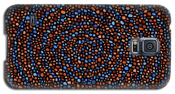 Blue And Orange Circles Galaxy S5 Case