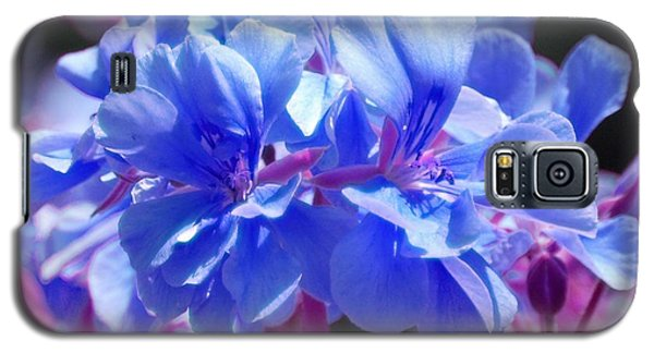 Galaxy S5 Case featuring the photograph Blue And Purple Flowers by Matt Harang