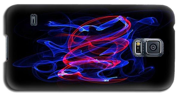 Galaxy S5 Case featuring the digital art Blue And Red by Angel Jesus De la Fuente