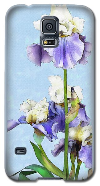 Blue And White Iris Galaxy S5 Case by Jane Schnetlage