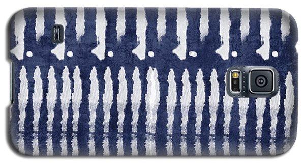 Blue And White Shibori Design Galaxy S5 Case by Linda Woods