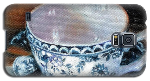 Blue And White Teacup With Spoon Galaxy S5 Case