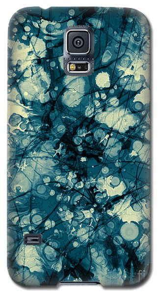 Blue And Yellow Abstraction Galaxy S5 Case