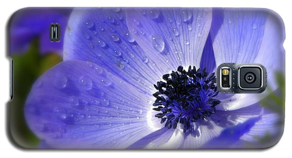 Galaxy S5 Case featuring the photograph Blue Anemone by Martina  Rathgens