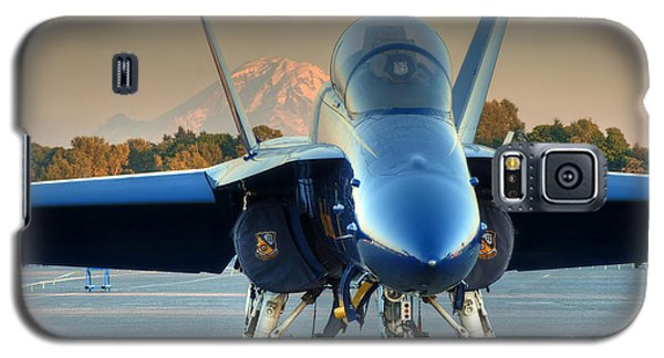 Galaxy S5 Case featuring the photograph Blue Angel At Sunset by Jeff Cook