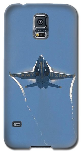 Galaxy S5 Case featuring the photograph Blue Angels Ghost Appears Head-on Over Pensacola Beach by Jeff at JSJ Photography