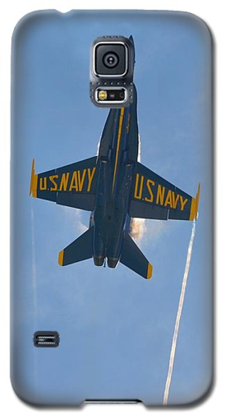 Galaxy S5 Case featuring the photograph Blue Angels Ghost Appears Over Pensacola Beach by Jeff at JSJ Photography