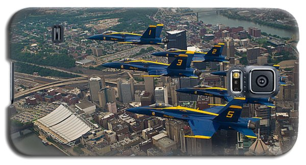 Blue Angels Over Pittsburg Galaxy S5 Case