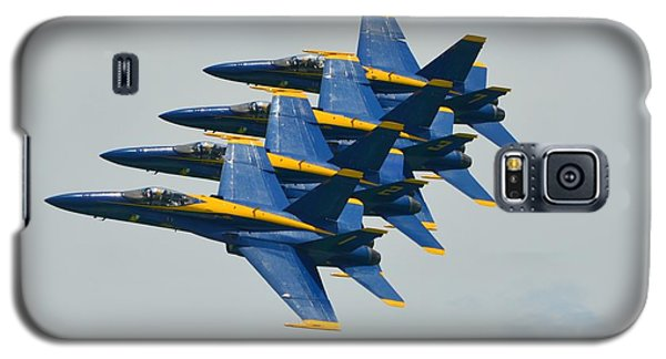 Galaxy S5 Case featuring the photograph Blue Angels Practice Echelon Formation by Jeff at JSJ Photography