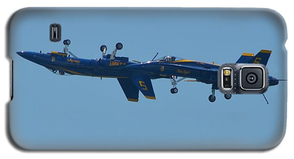Galaxy S5 Case featuring the photograph Blue Angels Practice Up And Down With Low And Slow by Jeff at JSJ Photography