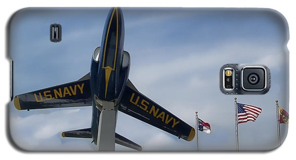 Galaxy S5 Case featuring the photograph Blue Angels Tribute by Victor Montgomery